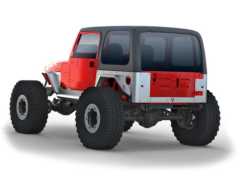 Jeep TJ/TJ Unlimited Rear Fender Flare 4 Inch 97-06 Wrangler