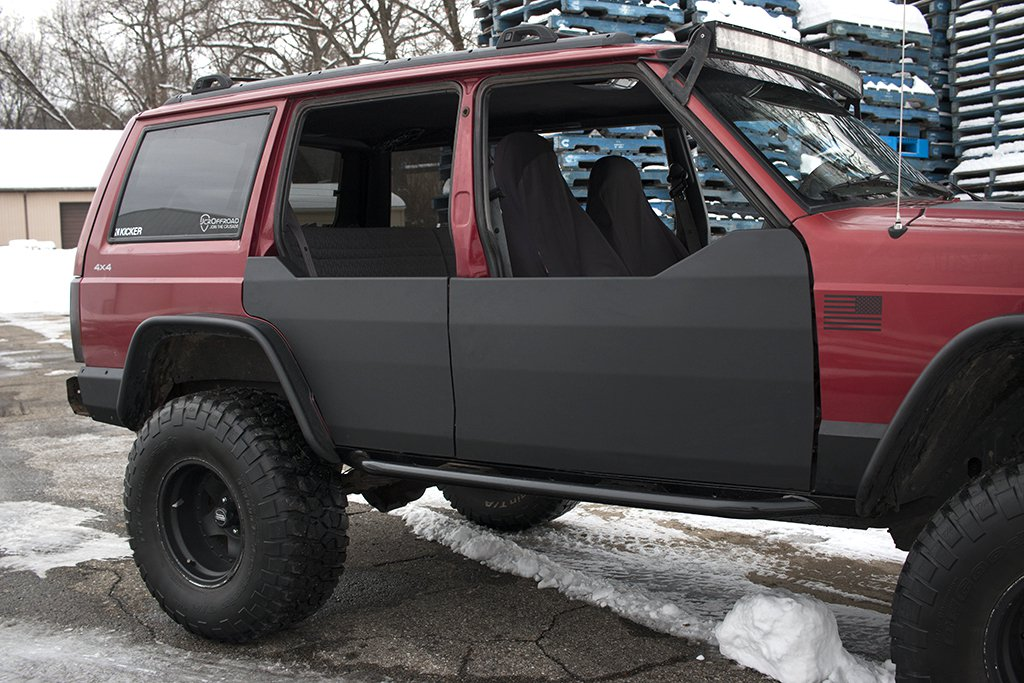 door product folded quarter cherokee para xj texture black jeep