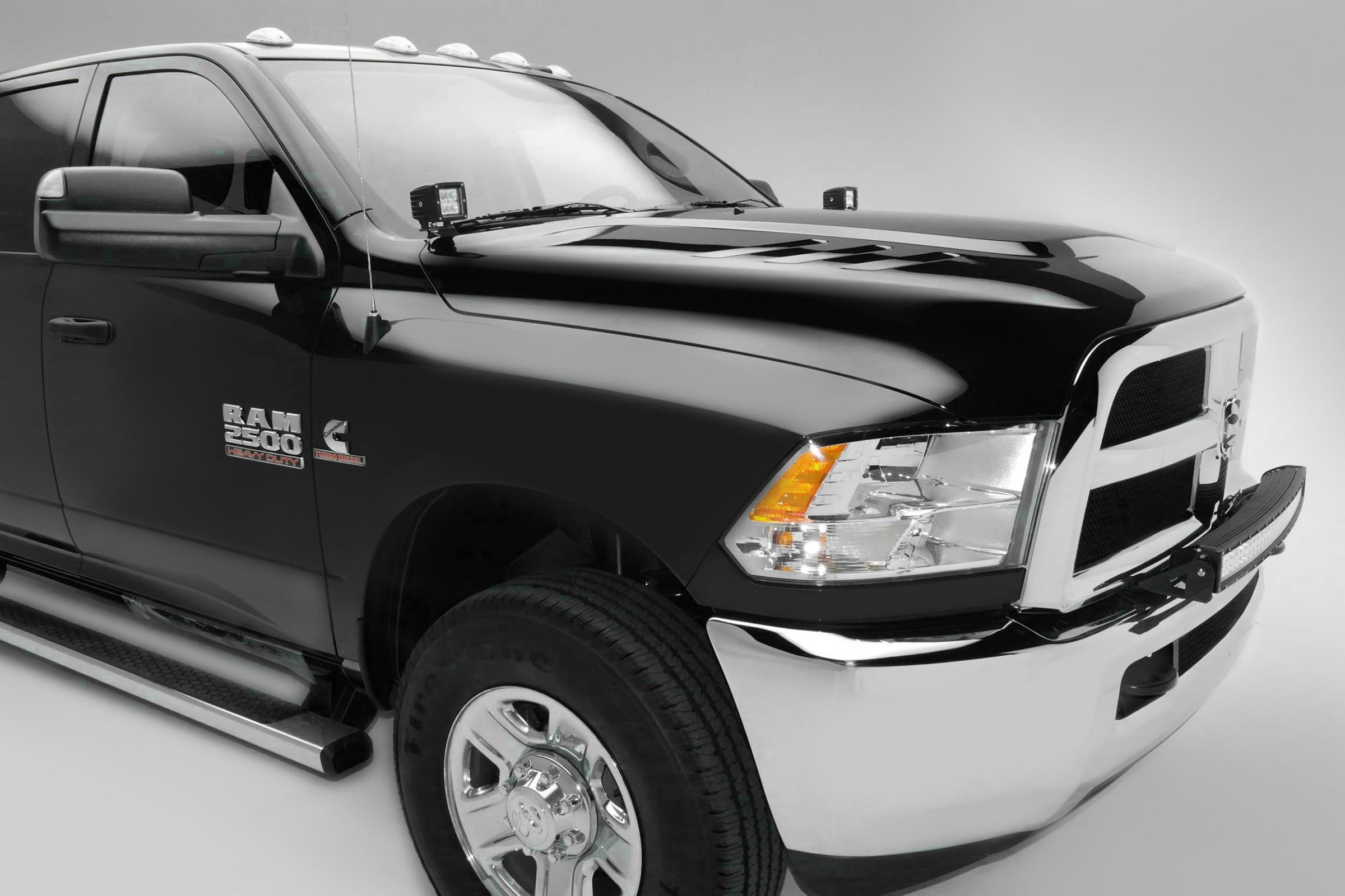 Front Bumper Top Led Light Bar Mount Kit 10 18 Dodge Ram 2500 3500 W Wiring Harness Roof View The Full Image